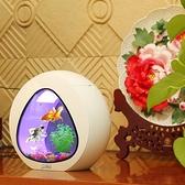 水族箱 魚缸水族箱客廳迷你小型桌面創意觀賞金魚缸辦公室生 晶彩 99免運LX