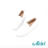 【Avivi】輕便悠活素面休閒鞋-白