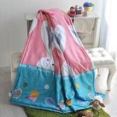 義大利La Belle x Fancy Belle《大耳兔派對》天使絨涼被(5x6尺)