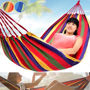 條紋戶外吊床(附外袋+綁繩)單人吊床露營吊床帆布吊床.野餐墊地墊沙灘墊海灘墊休閒吊床室內吊床