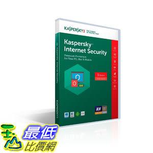 [106美國直購] 2017美國暢銷軟體 Kaspersky Lab Internet Security 2017 - 1 Device