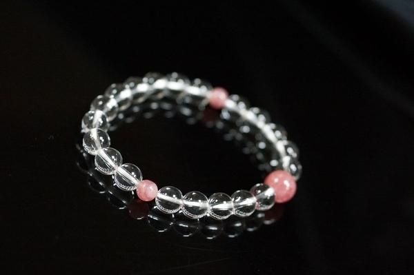 【喨喨飾品】色彩寶石vs白水晶 手鍊 N334
