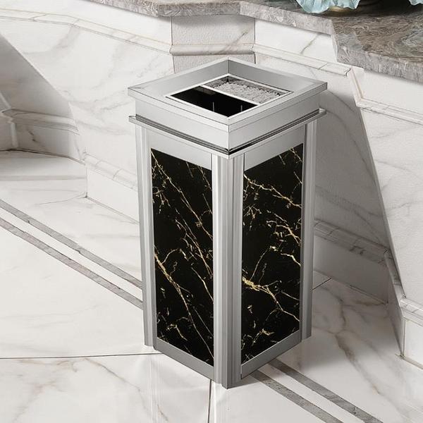不銹鋼垃圾桶酒店大堂立式高檔家用商場電梯口戶外煙灰桶大號商用ATF 伊衫風尚