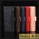 【萌萌噠】諾基亞 Nokia 8.3 (5G) 復古皮紋 多卡槽 側翻皮套 磁扣 支架 全包軟殼 手機套 手機殼