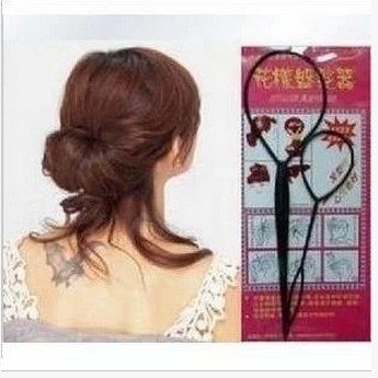 ►造型編髮器 2件套魔力穿髮棒 花樣拉髮盤髮器髮針髮飾頭飾【B5096】