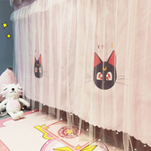 1學生宿舍床簾遮光上鋪少女心ins風紗簾寢室下鋪公主遮光簾子皇冠  聖誕免運