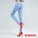 BOBSON 大彈力緊身牛仔褲(JEGGING)-冰藍 8124-58