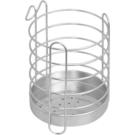 《真心良品》皇家拿鐵圓型不鏽鋼筷匙餐具收納籃