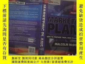 二手書博民逛書店Marketing罕見Plans: How to prepare