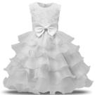 女童禮服 女童花朵中小童蝴蝶結公主裙花童禮服裙公主網紗蓬蓬裙 - 雙十二交換禮物