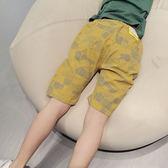 中大童兒童七分褲子外穿夏季韓版潮