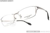 KATHARINE HAMNETT 光學眼鏡 KH9128 C01 (銀-黑) 日本工藝雅緻經典款 # 金橘眼鏡