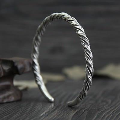 純銀手環(泰銀)-編織扭紋生日七夕情人節禮物女手鐲73gg123【時尚巴黎】