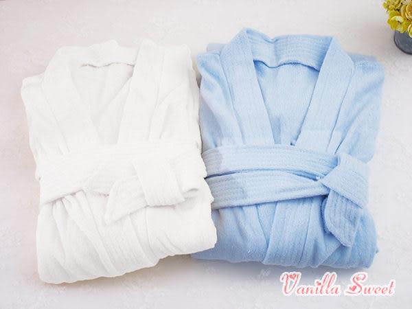 雙面超細纖維速乾毛巾布浴袍睡袍 男生版‧居家舒適 - 香草甜心