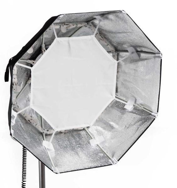 呈現攝影-折疊型雷達罩深弧型 60cm 銀色 附柔光布 八角美膚罩 外拍棚拍 快收罩 離機閃 Bowens卡口