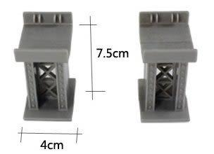 木製軌道組配件升級版橋墩(2入)顏色隨機出貨 /湯瑪士/班恩傑尼/IKEA木製產品相容 (購潮8)