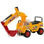 〔小禮堂〕麵包超人 挖土機遊戲車《黃.紅色怪手.盒裝》學步車.騎乘玩具 4971404-30410