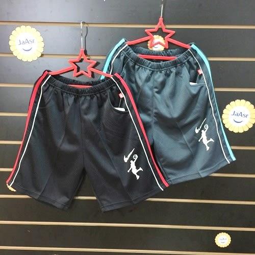 ☆棒棒糖童裝☆(502)夏男大童鬆緊細色邊滾邊排汗褲 120-170 紅邊;藍邊 追加到