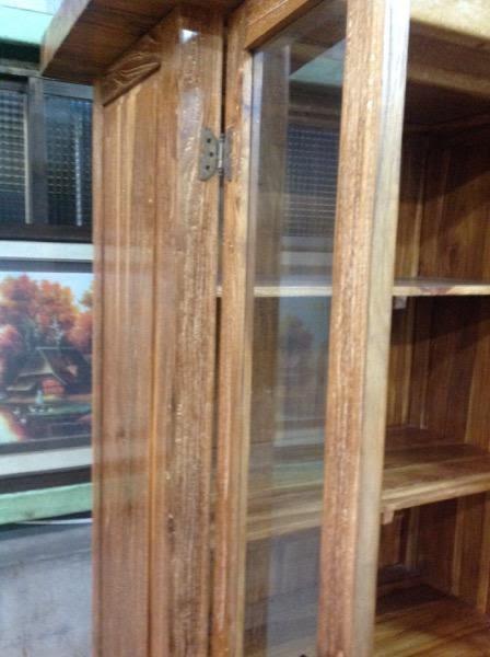 8號店鋪   老柚木展示櫃~全實木~~實體店面~~下標前請先來電詢問有無現貨