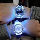 韓國夜光發光手錶個性正韓時尚潮男女中學生熒光情侶手錶【快速出貨】