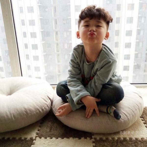 亞麻蒲團坐墊 加厚圓形大號布藝地板打坐日式陽臺飄窗榻榻米坐墊