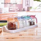 玻璃調味瓶罐調料罐調料盒調味盒鹽罐廚房家用組合套裝  薔薇時尚