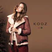 東京著衣【KODZ】溫熱系-歐美部落客流行率性麂皮外套-附腰帶-S.M.L(172843)