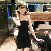 夜店女裝性感顯瘦包臀抹胸連衣裙子