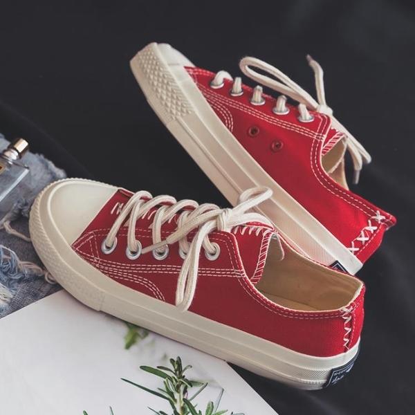 冬季新款低幫帆布潮鞋韓版潮流男鞋百搭休閒學生布鞋網紅板鞋 【原本良品】