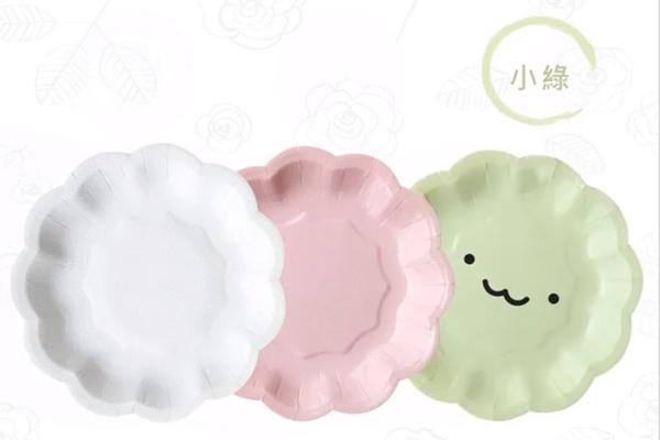 【甜手手】1入 小花蛋糕盤 小花盤 盤子 【C065】紙盤 免洗盤 蛋糕紙盤 生日蛋糕餐盤