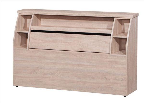 【新北大】✵Z49-01 馬克黑玻6尺收納床頭箱(木心板)(梧桐/雪松/胡桃)(17購)