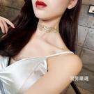 頸鍊歐美金色性感隱形頸鍊chocker鎖骨鍊女脖子飾品頸帶韓國短款項鍊