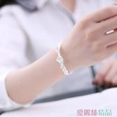 手鐲時尚手鐲女開口創意日韓櫻花手工銀飾個性文藝花朵學生飾品禮物交換禮物