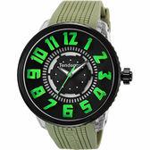 Tendence 天勢 酷炫LED立體休閒手錶-綠/50mm TY531002