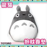 龍貓 抱枕娃娃 靠墊 椅墊 超舒服質感 灰龍貓款 TOTORO 日本正版 該該貝比日本精品 ☆