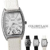 范倫鐵諾Valentino 經典酒桶造型大數字水鑽手錶 原廠公司貨 柒彩年代【NE958】單支價格