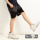 【N6009】雙色拼接鬆緊抽繩運動休閒短褲 透氣 輕薄(共三色)● 樂活衣庫