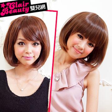 齊瀏海髮BOBO短髮【201AE】與日本同步流行擬真係假髮☆雙兒網☆