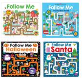 【禮品套組】手指遊戲書 FOLLOW ME系列《英文遊戲書迷官書|英文童書|親子共讀|互動學習》