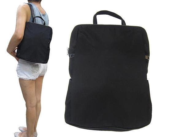 ~雪黛屋~COUNT 後背包小型容量可8寸平板進口防水水晶布+牛皮革材質外出休閒BCD50004201360
