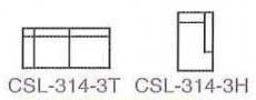 MS58-CSL-314 -3H  組合式L型沙發-緹花布-單張(不含茶几)