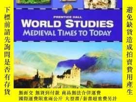 二手書博民逛書店World罕見Studies Medieval Times To Today Student Edition 20