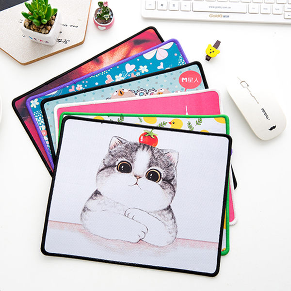 韓版游戲滑鼠墊可愛卡通桌墊小號滑鼠墊護腕個性時尚創意墊子 店慶活動 全館八折