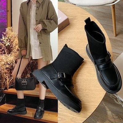 任選2雙888短靴歐美時尚圓頭低跟短筒襪靴【02S12683】