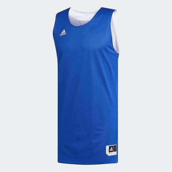 ADIDAS Crazy Explosive 男裝 上衣 背心 籃球 慢跑 健身 舒適 可雙面穿 白 藍【運動世界】CD8691