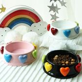 美到哭泣的愛心陶瓷寵物貓咪狗狗食盆 狗碗 貓碗 飯碗  ys1226『寶貝兒童裝』