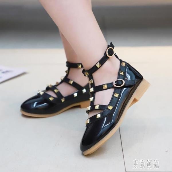 豆豆鞋 女童皮鞋2019新款洋氣秋鞋小女孩時尚公主鞋子寶寶兒童單鞋 LJ9400『東京潮流』