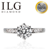 (零碼)【美國ILG鑽飾】Plywood 六爪夾鑲 1.50克拉戒指-頂級美國ILG鑽飾,媲美真鑽亮度的鑽飾 RiP10