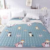 法蘭絨床褥子可水洗榻榻米床墊子1.5米1.8m加厚床單純棉防滑墊被