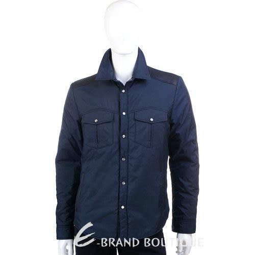 VERSACE 口袋設計尼龍釦式外套(藍色) 1140253-34